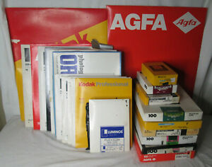 Vtg Dark Room Paper HUGE LOT Photography Film Developing Kodak AGFA Etc..