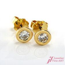 Ohrstecker - 18K/750 Gelbgold - 2 Brillanten ca. 0,40 ct TW-VVS  -1,9 g