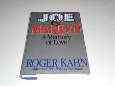 Joe and Marilyn:A Memory Of Love by Roger Kahn 1986 HC/DJ 1st ed,DiMaggio,Monroe
