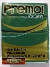 M00627 MOREZMORE Premo! Sculpey 2oz JUNGLE GREEN Sculpting Polymer Clay