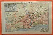 Singapore Singapur  Singapura  Xīnjiāpō Gònghéguó historical  City Map 1909