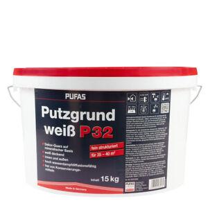 (2,60€/ Kg) Pufas Putzgrund P32 fein weiß 15KG, Haftvermittler, Spezialgrundieru