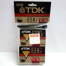 TDK TC-30 EHGU2 Extra High Grade VHS-C 4 Pack Cassette Tapes for Camcorders NEW