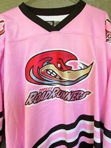 Topeka Roadrunners Hockey Jersey Pink Breast Cancer Awareness Murphy #9