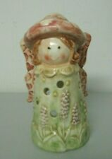 Fairy Ceramic Tealight Candle Holder Mushroom Cap Patio Garden Decor