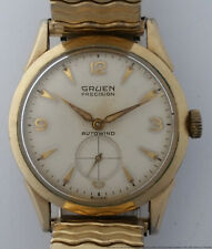 Mens Vintage Gruen Automatic Swiss 17J Wrist Watch