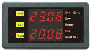 DC 200V 500A Digital Amp Volt Combo Meter Battery Monitor Double Current Voltage