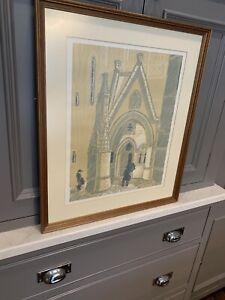 Aberystwyth Old College Etching Print by Bob Robert Meyrick Framed