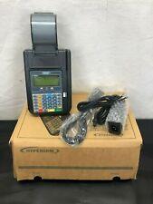 Hypercom T7Plus 010218-046 Zj Credit Card Machine and Power Supply