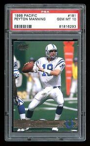 1998 Pacific PEYTON MANNING - Rookie Card RC #181 PSA 10 GEM MINT Colts Broncos!