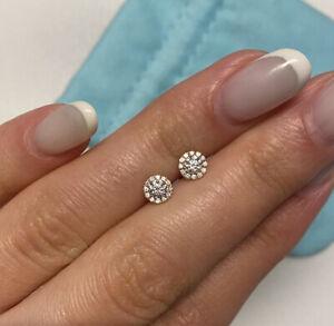 Tiffany & Co. Soleste Diamond EarringsSize small