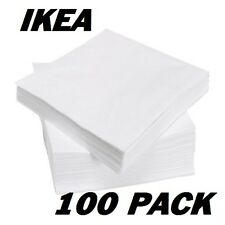 IKEA FANTASTISK 3 Ply Paper 100 Pack Birthday Party Napkins Serviettes 40 X 40cm
