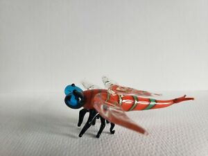 Coloured Glass Dragonfly Ornament Decoration