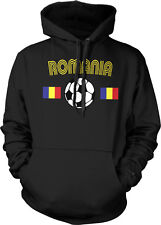 Romanian Europian National Soccer Team Red and Yellow  Hoodie Pullover