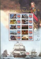 QC COLLECTION SMILER STAMP SHEET BUCKINGHAM HORATIO NELSON