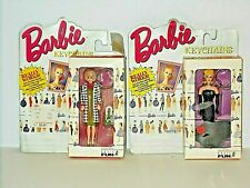 """New 2 Barbie Keychains In Original Packages Teen Age Fashion Models Series - 4"""""""