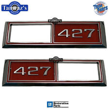 "68-69 Chevy "" 427 "" in RED Paint Side Marker Light Lamp Chrome Bezel Trim PAIR"