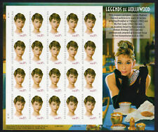 2003 Us Sc 3786 37c Audrey Hepburn, Legends of Hollywood Full Sheet of 20, S/A