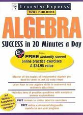 Algebra Success in 20 Minutes a Day - Good - LearningExpress Editors - Paperback