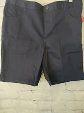 French Toast Wrinkle No More Chino Shorts girls12 1/2 Plus Navy Blue Brand New