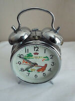 VTG DIAMOND ALARM CLOCK ANIMATED CHICKEN SHANGHAI CHINA -RARE