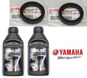 KIT OLIO FORCELLA 1 L YAMALUBE 10W + 2 PARAOLI ORIGINALE YAMAHA TMAX 500 2007