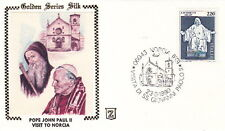 1980 POPE JOHN PAUL II VISITS NORCIA ITALY POSTAL COVER