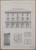 RICORDI DI ARCHITETTURA PALAZZO LAZZARESCHI LAZZERONI LUCCA TOSCANA ORZALI 1800