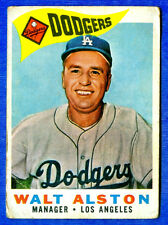 1960 Topps  WALTER ALSTON  (Los Angeles Dodgers) Card # 212 (gd-vg)