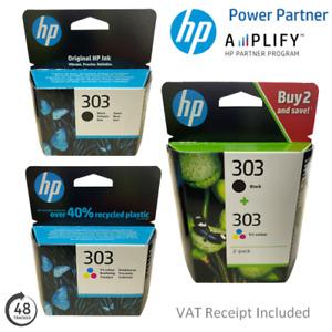 Genuine HP 303 Black or Colour Ink Cartridges T6N02AE, T6N01AE or 3YM92AE