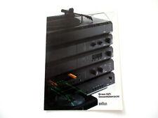 BRAUN Katalog Prospekt 1984 Hifi Technik Broschüre HI-FI Audio Gesamtübersicht