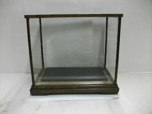 Large glass case(Display Cases)of the wooden frame. Japanese Antique.