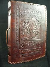 TREE of LIFE A4 Handmade Leather Journal Sketchbook - Pages of Cartridge Paper