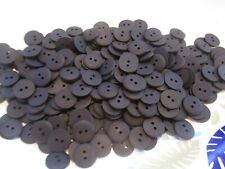 LOT OF 250 BLACK COLOR 2 HOLE 9/16 INCH BUTTONS, NEW