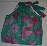 Sweet Pea for New York & Company by Stacy Frati Sleeveless Floral Blouse Size L