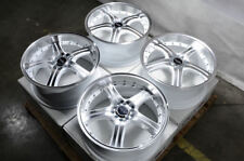 "18"" Wheels Honda Accord Civic Mustang Lexus Is350 Is300 White Rims 5x100 5x114.3"