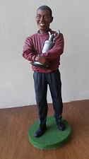 Statuetta in resina Tiger Woods con GOLF TROPHY