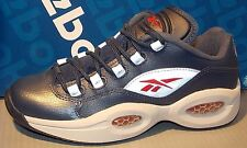 0e35c94fa51 REEBOK QUESTION LOW JUNIOR in colors NAVY   SILVER   RED   STEEL SIZE 6