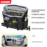 Caden Waterproof DSLR SLR Camera Bag Messenger Shoulder Bag For Camera Universal