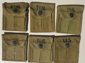 US WWII M1 CARBINE NEW OLD STOCK SLIP ON STOCK POUCHES