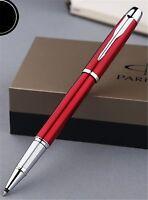 Luxurious Metal Parker IM Red Color Roller Pen 0.5mm Fine Nib Rollerball Pen