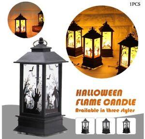 New Halloween Vintage Pumpkin Castle Light LED Lantern Hanging Lamp Party Decor