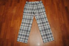 MEN'S NIKE GOLF PLAID PANTS TIGER WOODS SIZE 32 GRAY CHECK