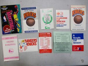 10 1970's NBA Schedules