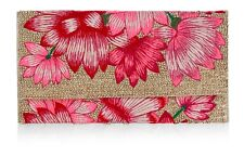 NWT ACCESSORIZE BELLE EMBROIDERED BEADED FLORAL PURSE HANDBAG CLUTCH WALLET BAG