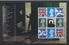 GREAT BRITAIN 2020 JAMES BOND PRESTIGE PANE 4 GUILLOTINED UNMOUNTED MINT, MNH