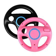 2 x Pcs Rose Noir Volant Mario Kart Racing Wheel Pour Nintendo Wii Remote G3E7