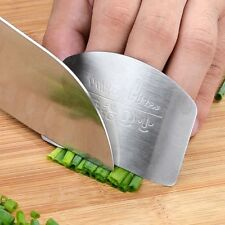 Kitchen Finger Hand Protector Guard Stainless Steel Chop Slice Shield Cook Tool