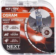 H7 55W Osram Birnen 12V Lampen Halogen Lampe Night Breaker Laser Optik Duo Box