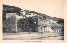 Arzew Algeria Pavillon des Officiers Street Scene Antique Postcard J66593